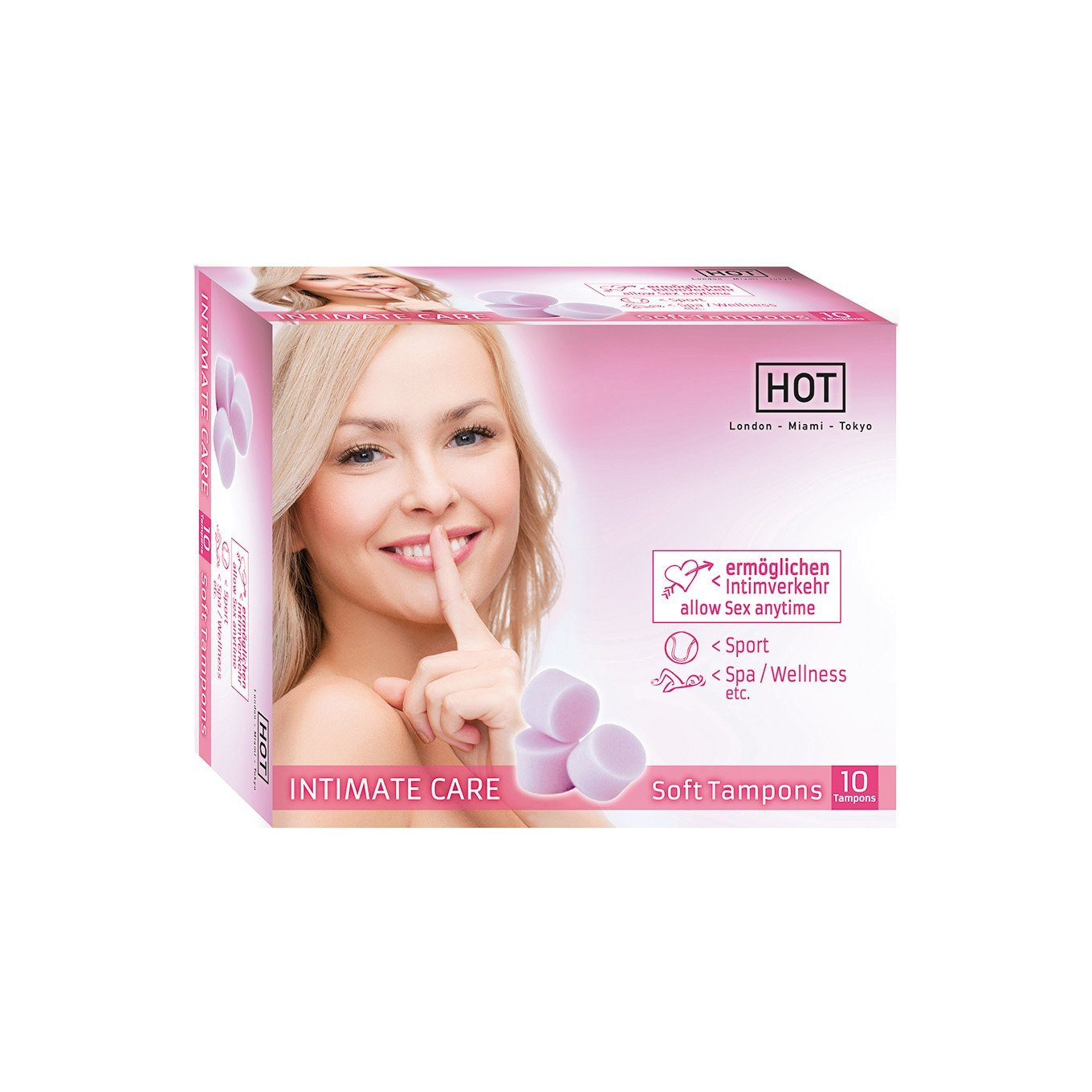 Hot - Intimate Care Soft Tampons (10 Pack) | CherryAffairs Singapore