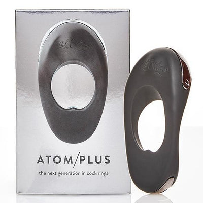 Hot Octopuss - Atom Plus Rechargeable Silicone Cock Ring (Black) Silicone Cock Ring (Vibration) Rechargeable Singapore