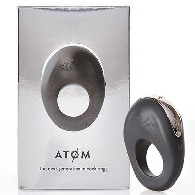 Hot Octopuss - Atom Rechargeable Silicone Cock Ring (Black) Silicone Cock Ring (Vibration) Rechargeable Singapore