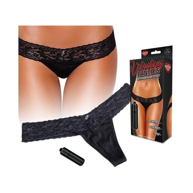 Hustler - Vibrating Panties with Hidden Vibe Pocket M/L (Black) | CherryAffairs Singapore