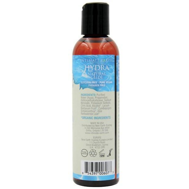 Intimate Earth - Hydra Plant Cellulose Water Based Lubricant 240 ml (Lube) Lube (Water Based) - CherryAffairs Singapore