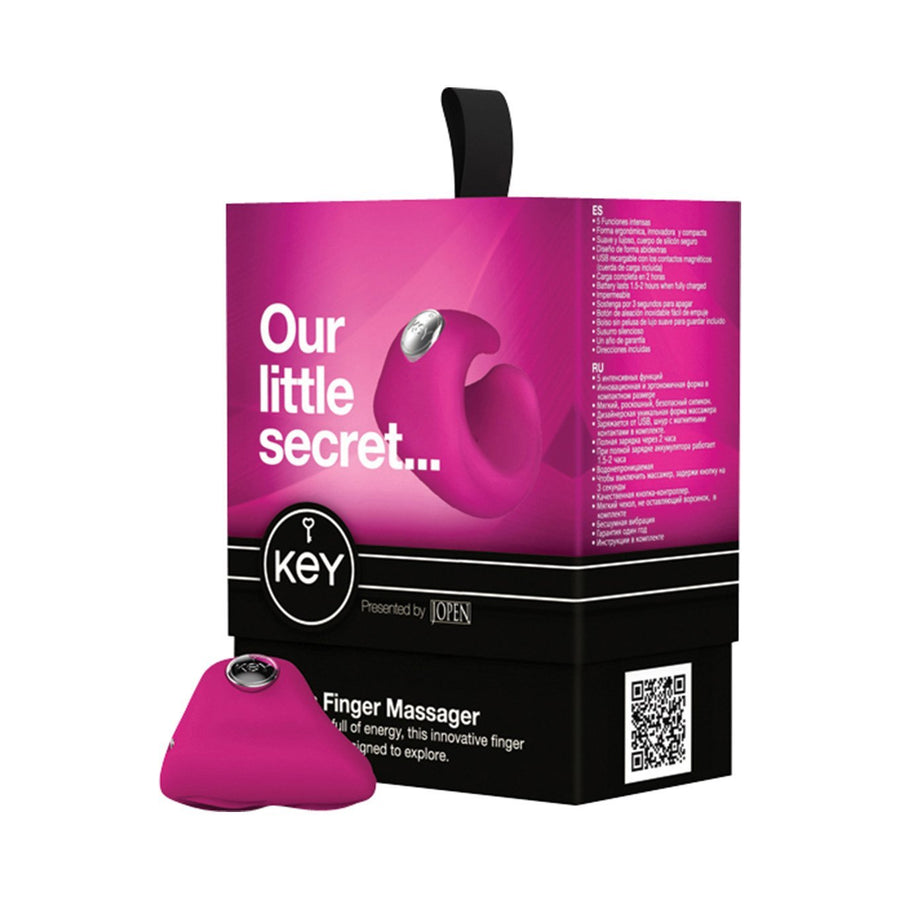 Jopen - Key Pyxis Finger Massager (Pink) Clit Massager (Vibration) Rechargeable Singapore