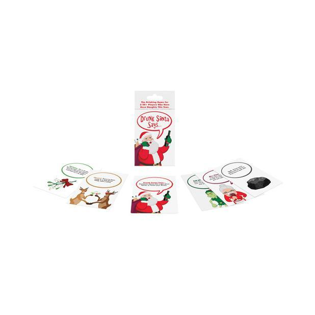 Kheper Games - Drunk Santa Says Card Game (White) | CherryAffairs Singapore