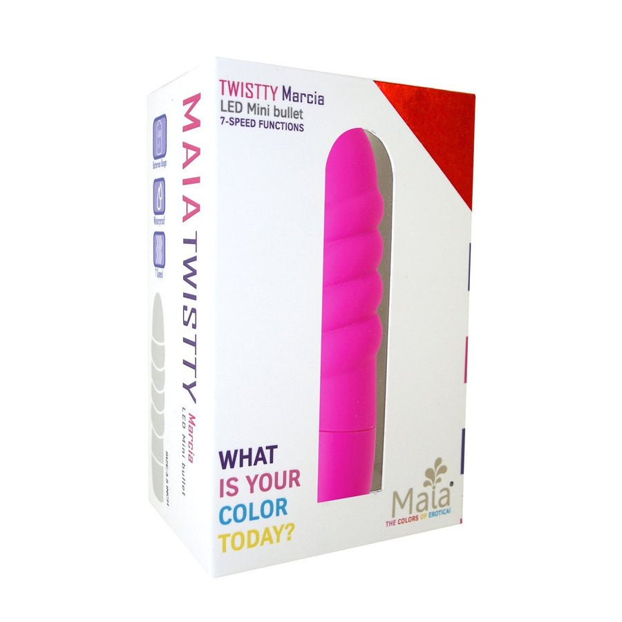Maia Toys - Twistty Led Mini Bullet (Pink) Bullet (Vibration) Non Rechargeable Singapore