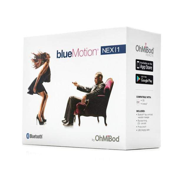 OhMiBod - Blue Motion Nex 1 2nd Generation App Controller Massager (Blue) | CherryAffairs Singapore