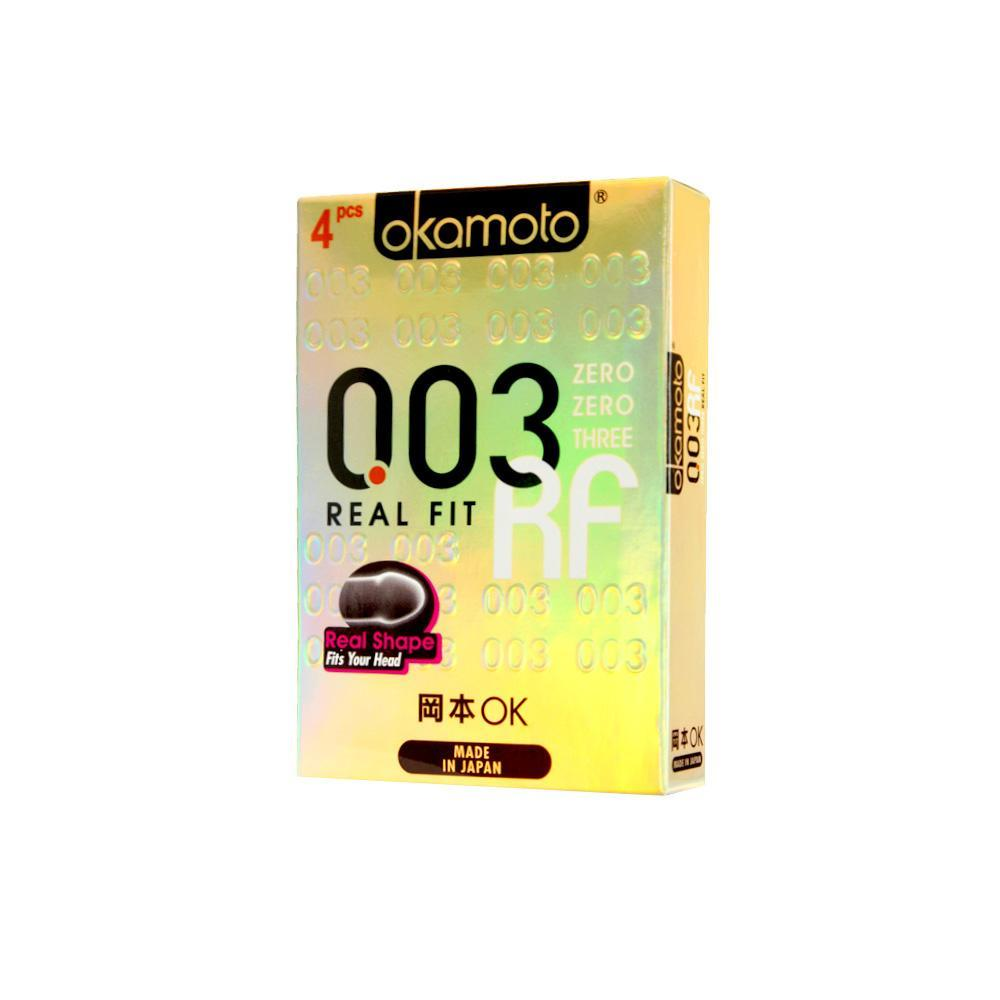 Okamoto - 003 Real Fit Condoms 4's | CherryAffairs Singapore
