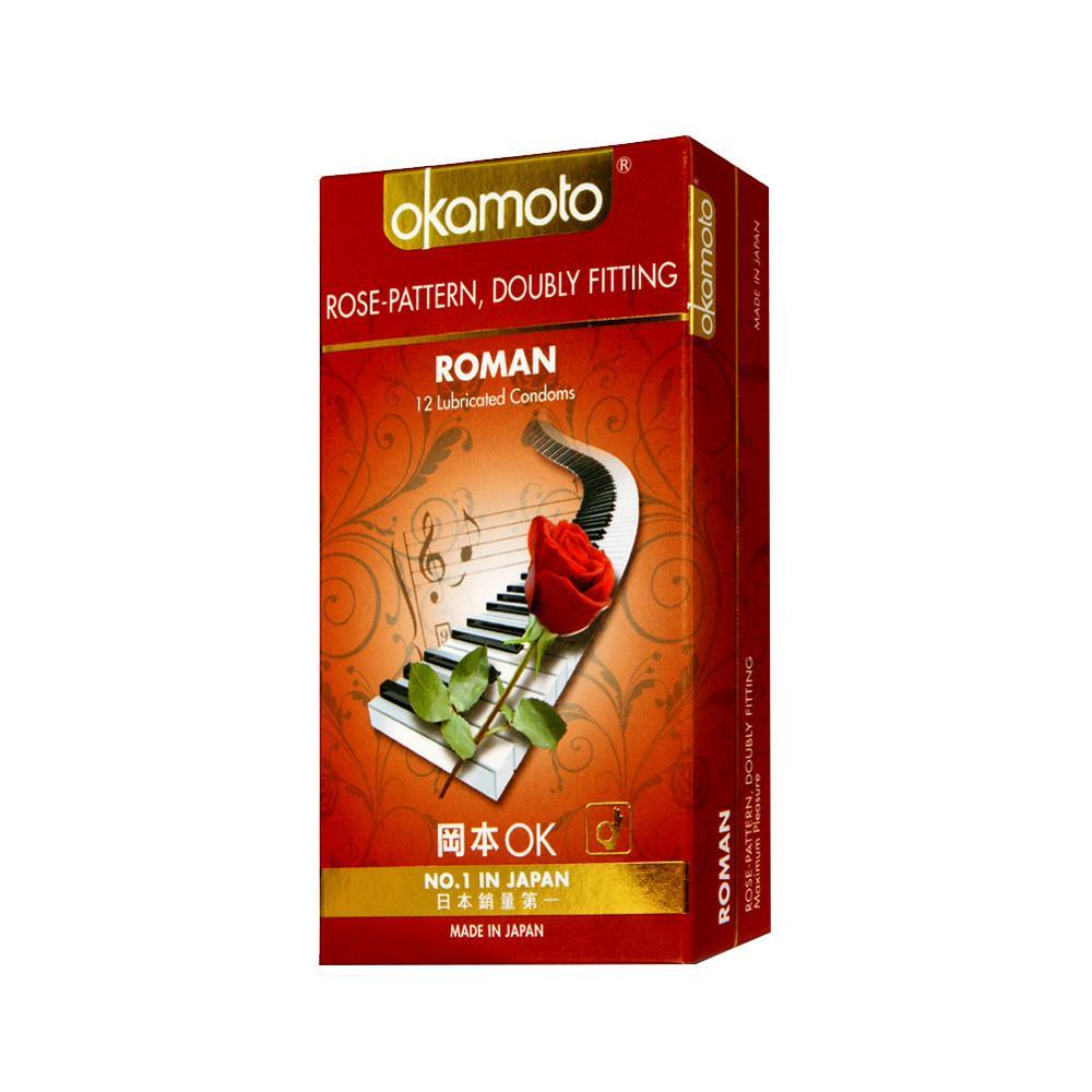 Okamoto - Roman Rose Pattern Condoms 12's | CherryAffairs Singapore