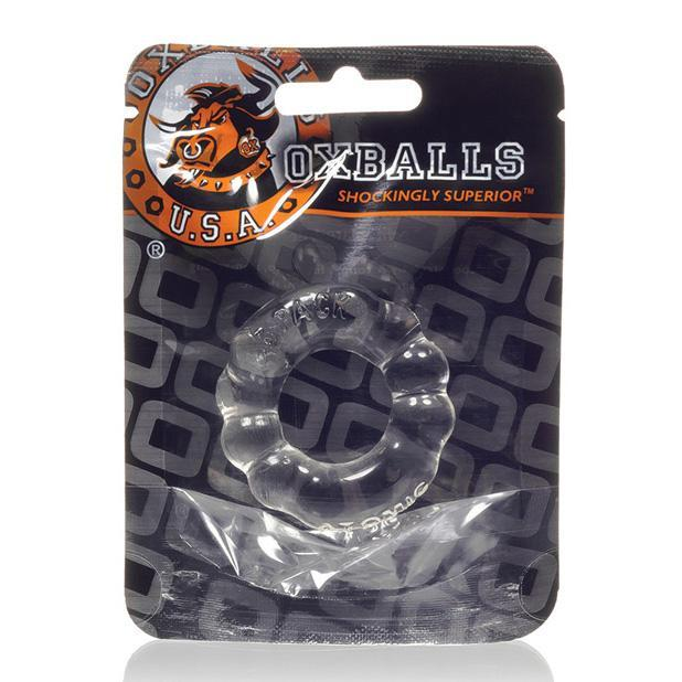 Oxballs - Atomic Jock 6-Pack Cock Ring (Clear) Rubber Cock Ring (Non Vibration) Singapore