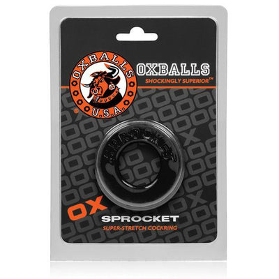 Oxballs - Atomic Jock Sprocket Super Stretch Cock Ring (Black) Rubber Cock Ring (Non Vibration) Singapore