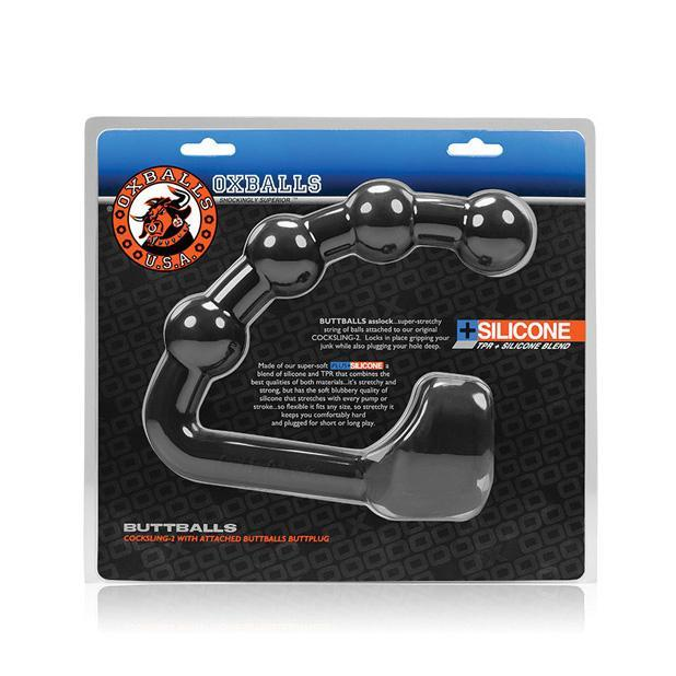 Oxballs - Buttballs Butt Plug Silicone Cock Ring (Black) Silicone Cock Ring (Non Vibration) Singapore