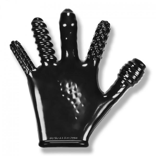 Oxballs - Stretchy Rubber Finger F*ck Glove (Black) Novelties (Non Vibration) Singapore