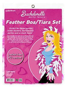Pipedream - Bachelorette Party Favors Feather Party Boa/Tiara Set Bachelorette Party Novelties Singapore