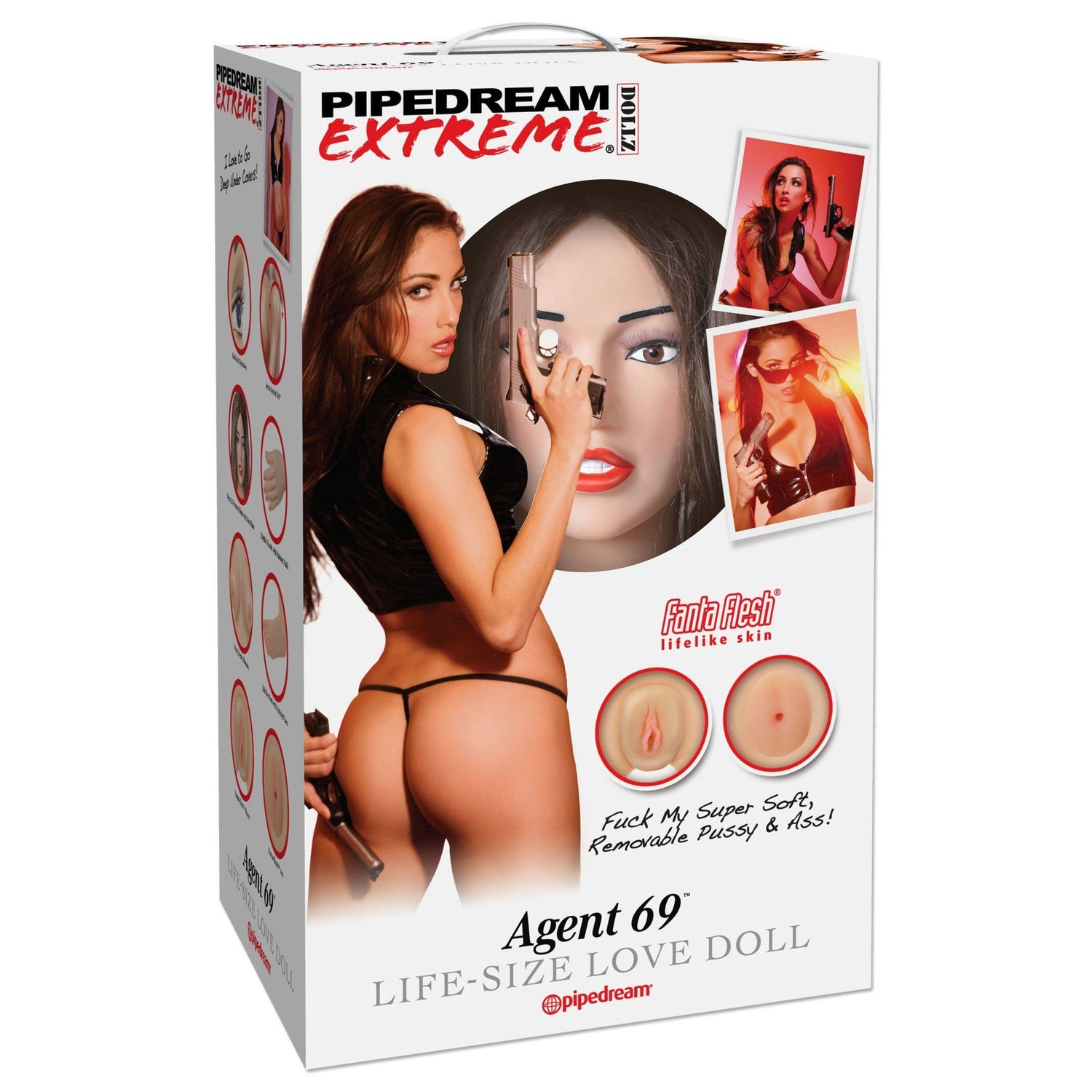 Pipedream - Extreme Dollz Agent 69 Life-Size Love Doll (Beige) | CherryAffairs Singapore