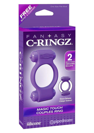 Pipedream - Fantasy C-Ringz Magic Touch Couples Ring (Purple) Silicone Cock Ring (Vibration) Non Rechargeable Singapore