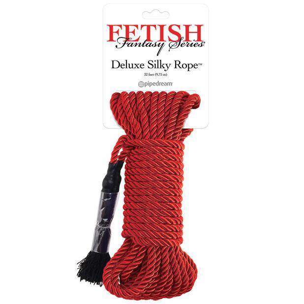 Pipedream - Fetish Fantasy Series Deluxe Silk Rope (Red) | CherryAffairs Singapore