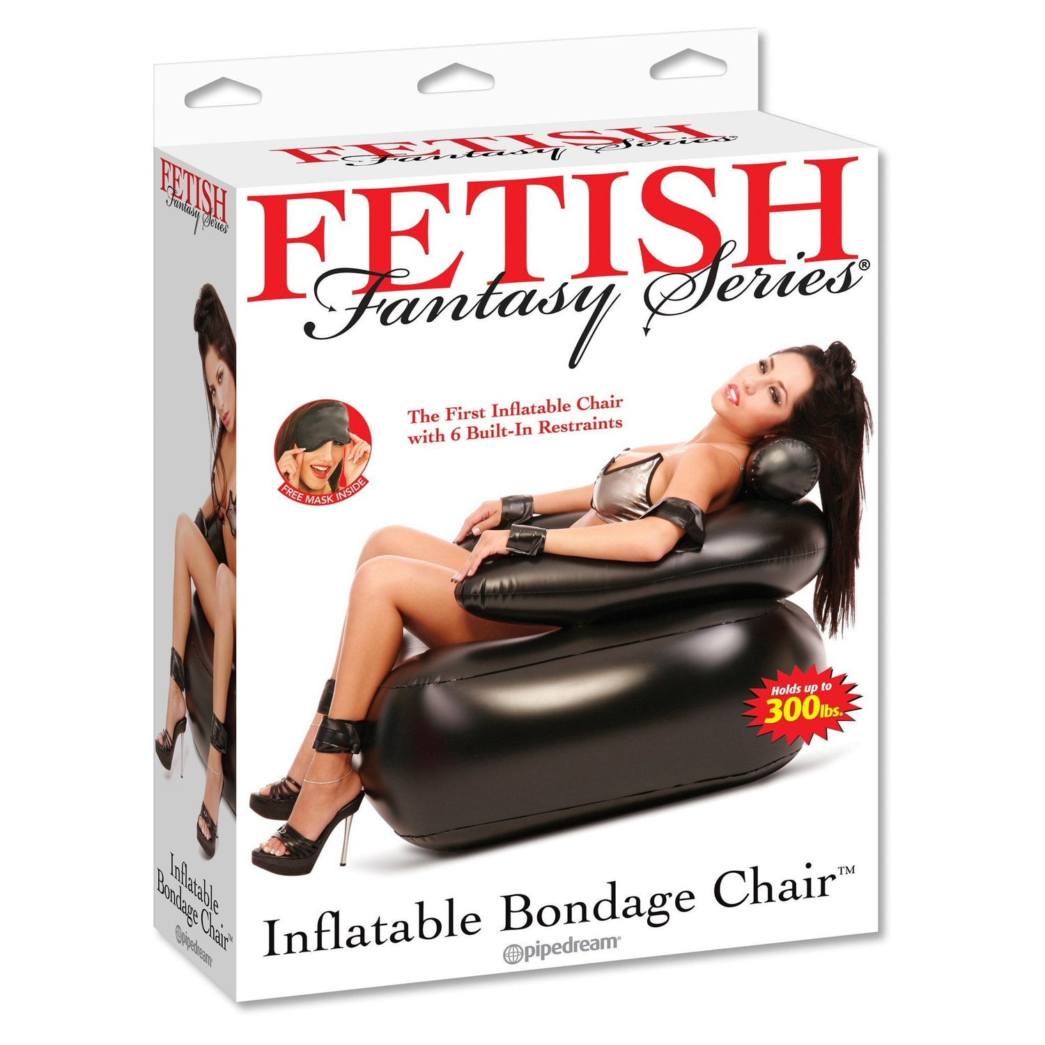 Pipedream - Fetish Fantasy Series Inflatable Bondage Chair (Black) | CherryAffairs Singapore