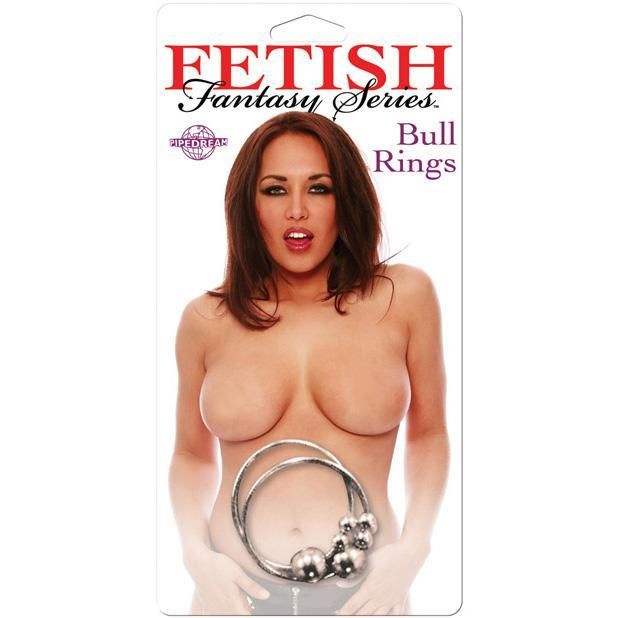 Pipedream - Fetish Fantasy Series Nipple Bull Rings (Silver) Nipple Clamps (Non Vibration) Singapore