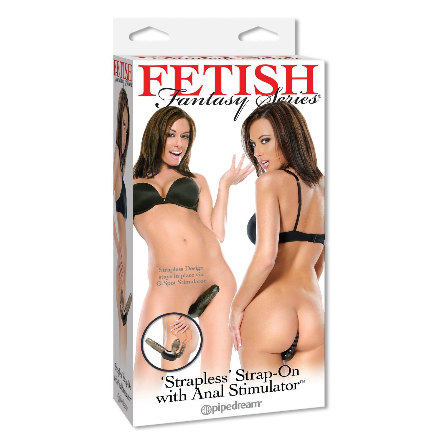 "Pipedream - Fetish Fantasy Series ""Strapless"" Strap-On with Anal Stimulator (Black) 
