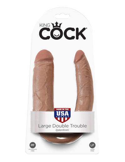Pipedream - King Cock Double Penetrator Large (Brown) Double Dildo (Non Vibration) Singapore