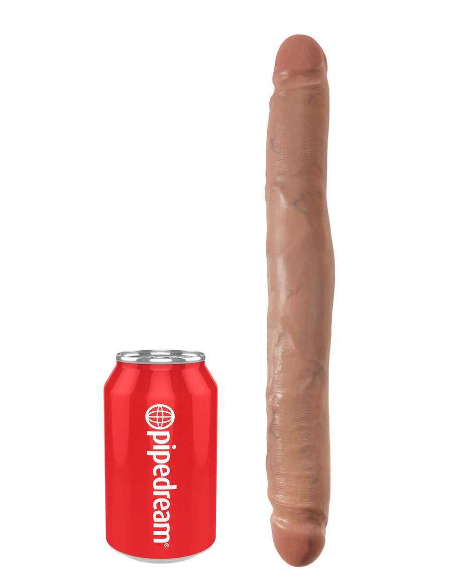 "Pipedream - King Cock Slim Double Dildo 12"" (Brown) Double Dildo (Non Vibration) Singapore"