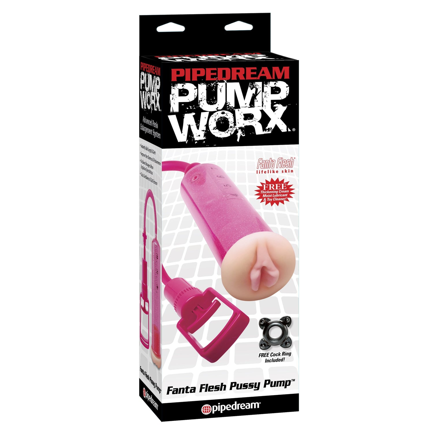 Pipedream - Pump Worx Fanta Flesh Pussy Pump (Pink) Penis Pump (Non Vibration) Singapore