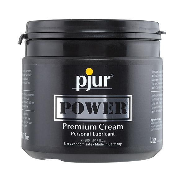 Pjur - Power Premium Cream Personal Lubricant 500 ml Lube (Silicone Based)