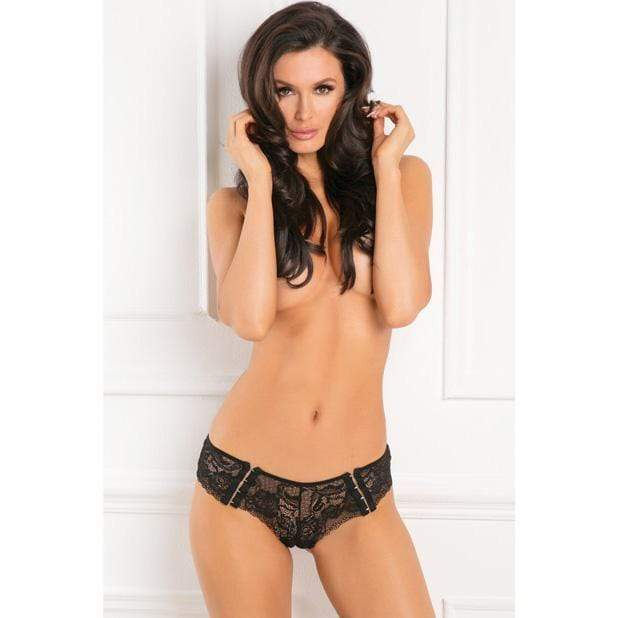 Rene Rofe - Hot Hook Crotchless Boyshort M/L (Black)