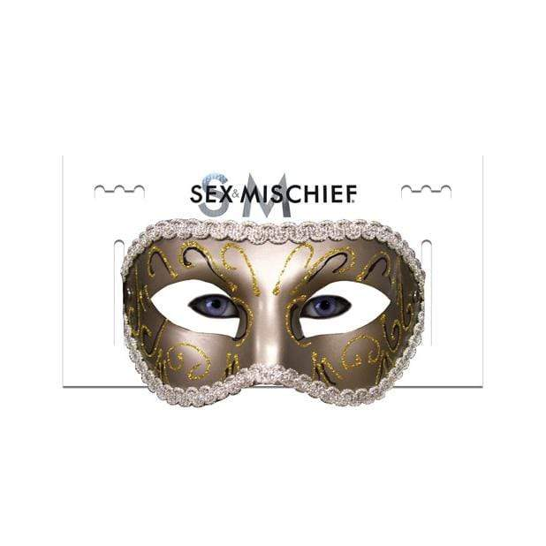 Sex and Mischief - Masquerade Mask (Gold) Mask (Non blinded) 646709100810 CherryAffairs
