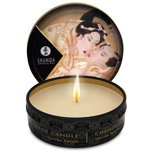 Shunga - Erotic Art Desire Mini Candlelight Massage Candle Vanilla Fetish 1oz Massage Candle 697309045025 CherryAffairs