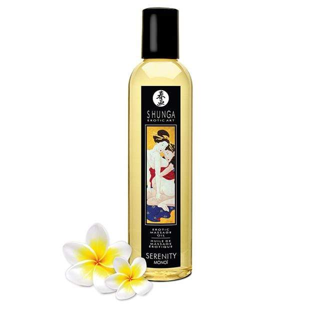 Shunga - Erotic Art Erotic Massage Oil Serenity Monoi 8.5oz Massage Oil 697309046084 CherryAffairs
