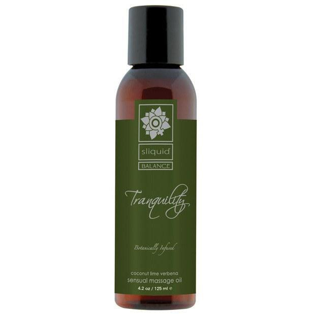 Sliquid - Organics Massage Oil 4.2 oz Tranquility (Green) Massage Oil - CherryAffairs Singapore