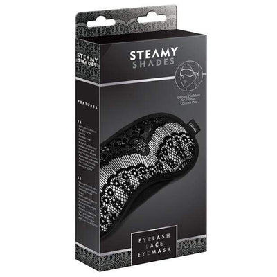 Steamy Shades - Eyelash Lace Eyemask (Black) Mask (Blind) 4041937579012 CherryAffairs