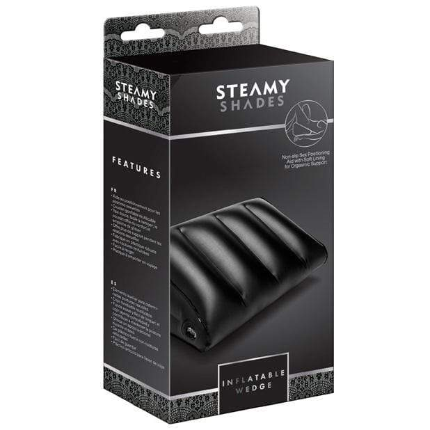 Steamy Shades - Inflatable Wedge Sex Furniture (Black) Sex Furnitures 4041937579197 CherryAffairs