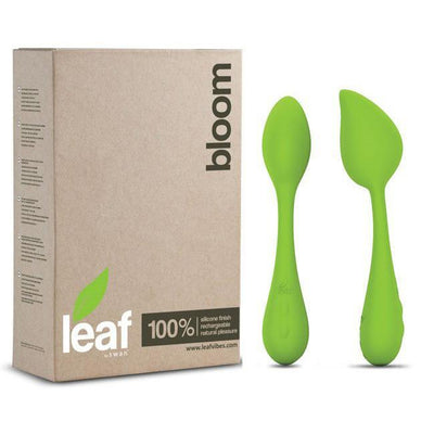 Swan - Leaf Bloom Rechargeable Clit Massager (Green) Clit Massager (Vibration) Rechargeable - CherryAffairs Singapore