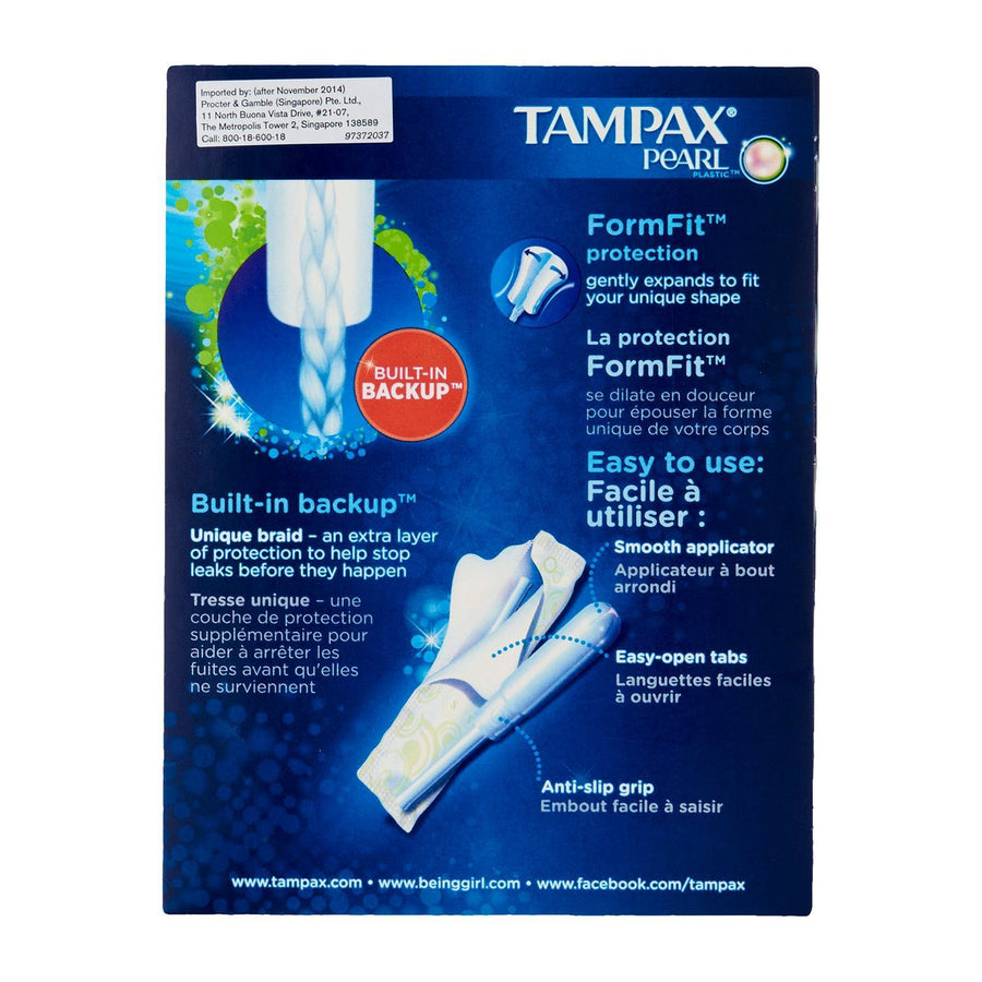 Tampax - Plastic Pearl Super Unscented 18s Tampons Singapore