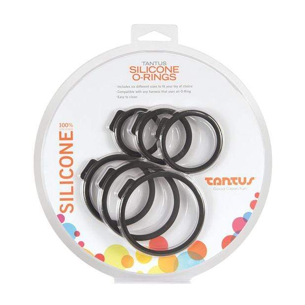 Tantus - Silicone O Rings Set Pack of 6 (Black) Silicone Cock Ring (Non Vibration) 830539008594 CherryAffairs