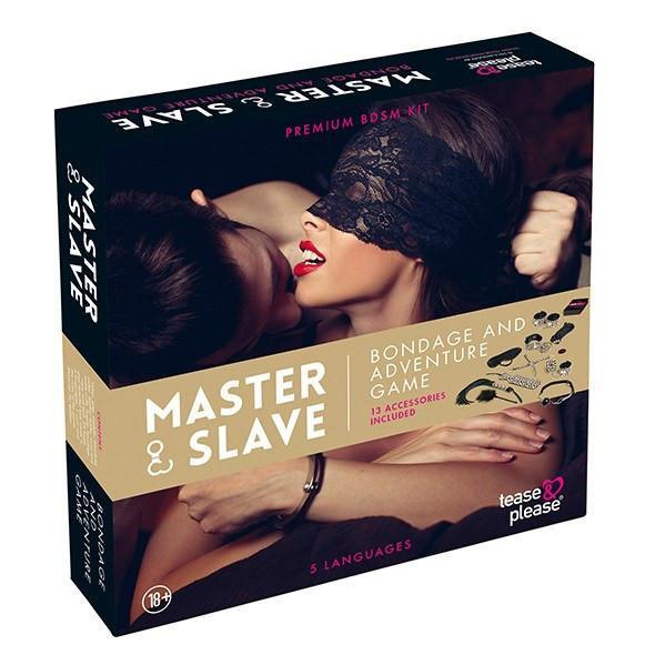 Tease&Please - Master & Slave Bondage Game (Beige) BDSM Set - CherryAffairs Singapore