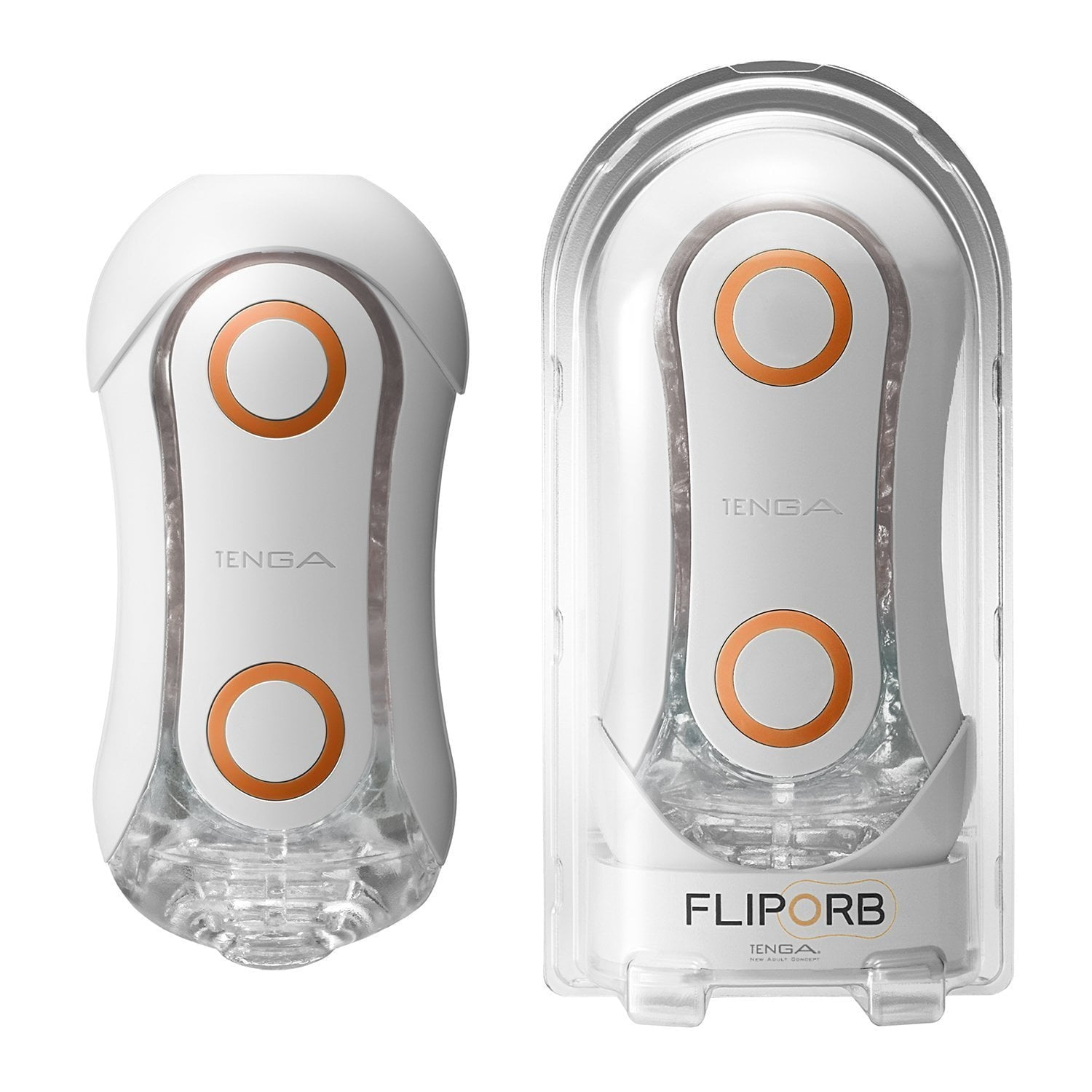Tenga - Flip ORB Orange Crush Masturbator (Orange) Masturbator Soft Stroker (Non Vibration)