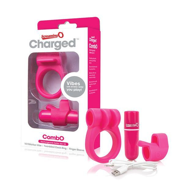 The Screaming O - Charged CombO Rechargeable Better Sex Couples' Kit (Pink) Couple's Massager (Vibration) Rechargeable Singapore