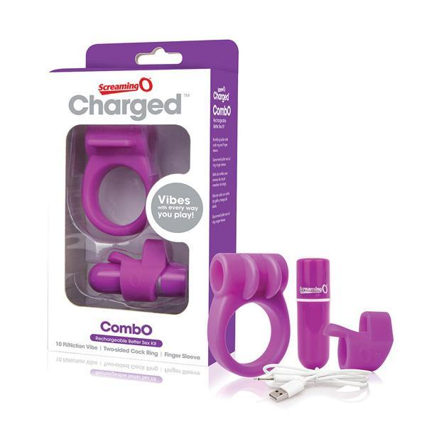 The Screaming O - Charged CombO Rechargeable Better Sex Couples' Kit (Purple) Couple's Massager (Vibration) Rechargeable Singapore