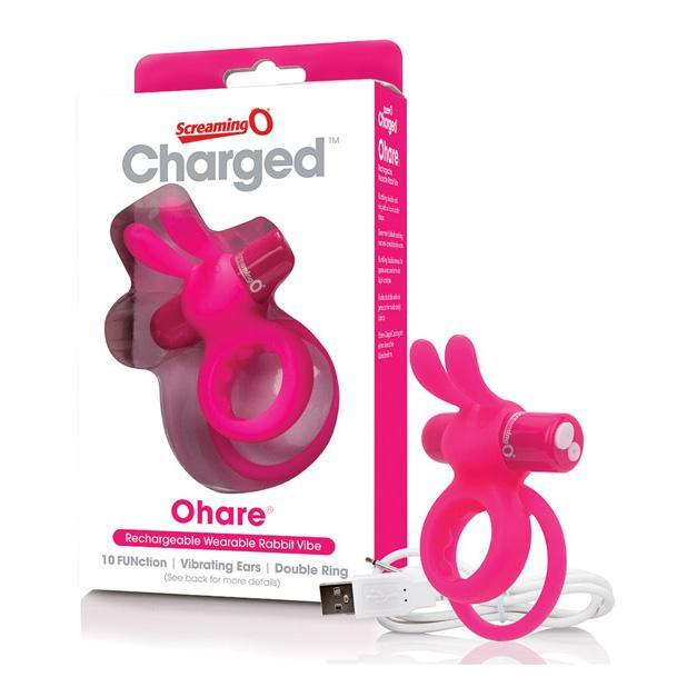 The Screaming O - Charged Ohare Rechargeable Wearable Rabbit Cock Ring (Pink) Silicone Cock Ring (Vibration) Rechargeable Singapore