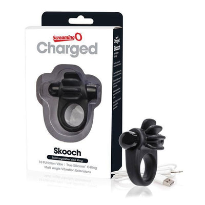 The Screaming O - Charged Skooch Rechargeable Silicone Cock Ring (Black) Silicone Cock Ring (Vibration) Rechargeable Singapore