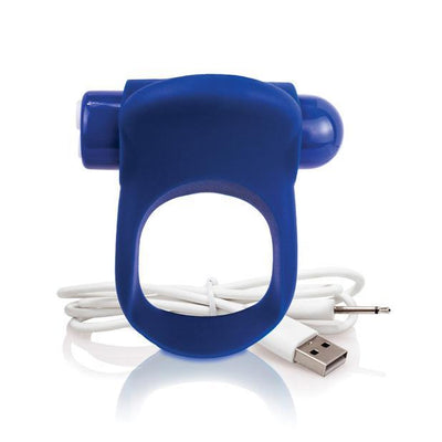 The Screaming O - Charged You Turn Plus Rechargeable Cock Ring (Blue) Silicone Cock Ring (Vibration) Rechargeable Singapore