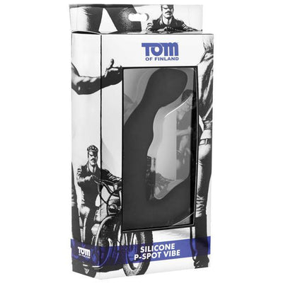 Tom of Finland - Silicone P Spot Vibrator (Black) Prostate Massager (Vibration) Non Rechargeable Singapore