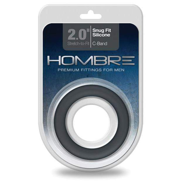 Topco - Hombre Snug Fit Silicone Cock Ring (Black) Silicone Cock Ring (Non Vibration) 051021210046 CherryAffairs