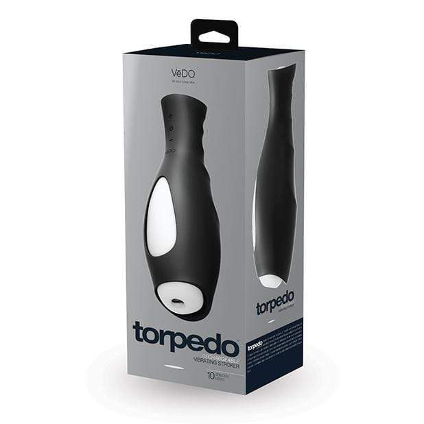VeDO - Torpedo Vibrating Rechargable Stroker (Just Black) Masturbator Soft Stroker (Vibration) Rechargeable 789185756864 CherryAffairs