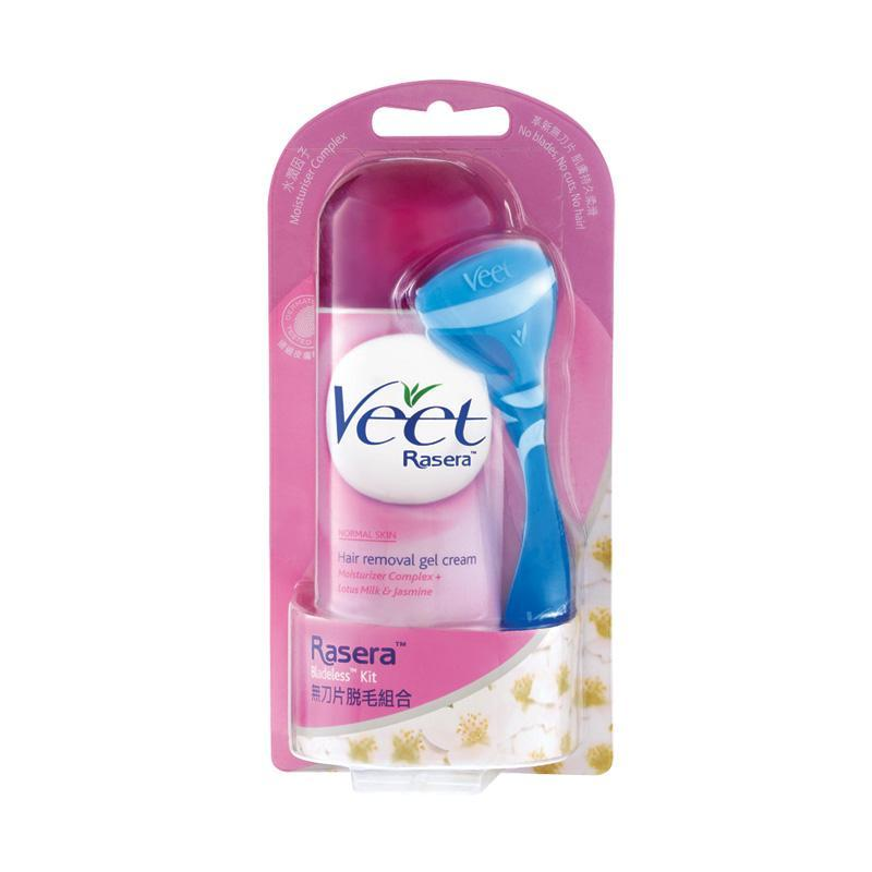 Veet - Rasera Bladeless Kit with Hair Removal Gel Cream for Normal Skin 150 ml Hair Removal Cream Singapore