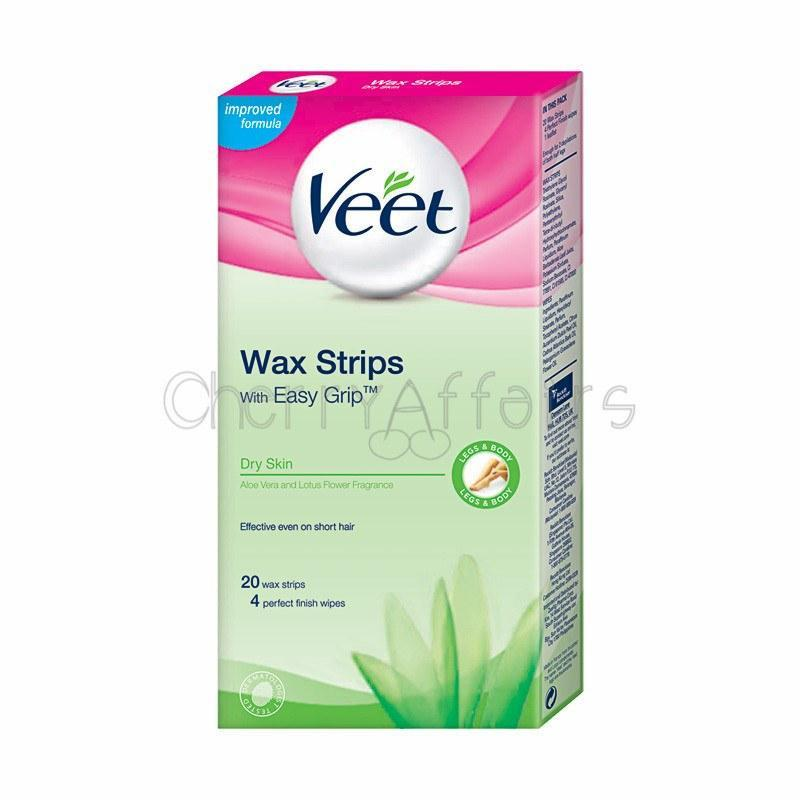 Veet - Wax Strips for Dry Skin 20s Wax Strips - CherryAffairs Singapore
