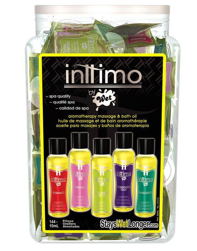 Wet - Inttimo Massage Oil 144pcs 10ml with Bowl Display (Multi Colour) Massage Oil Singapore