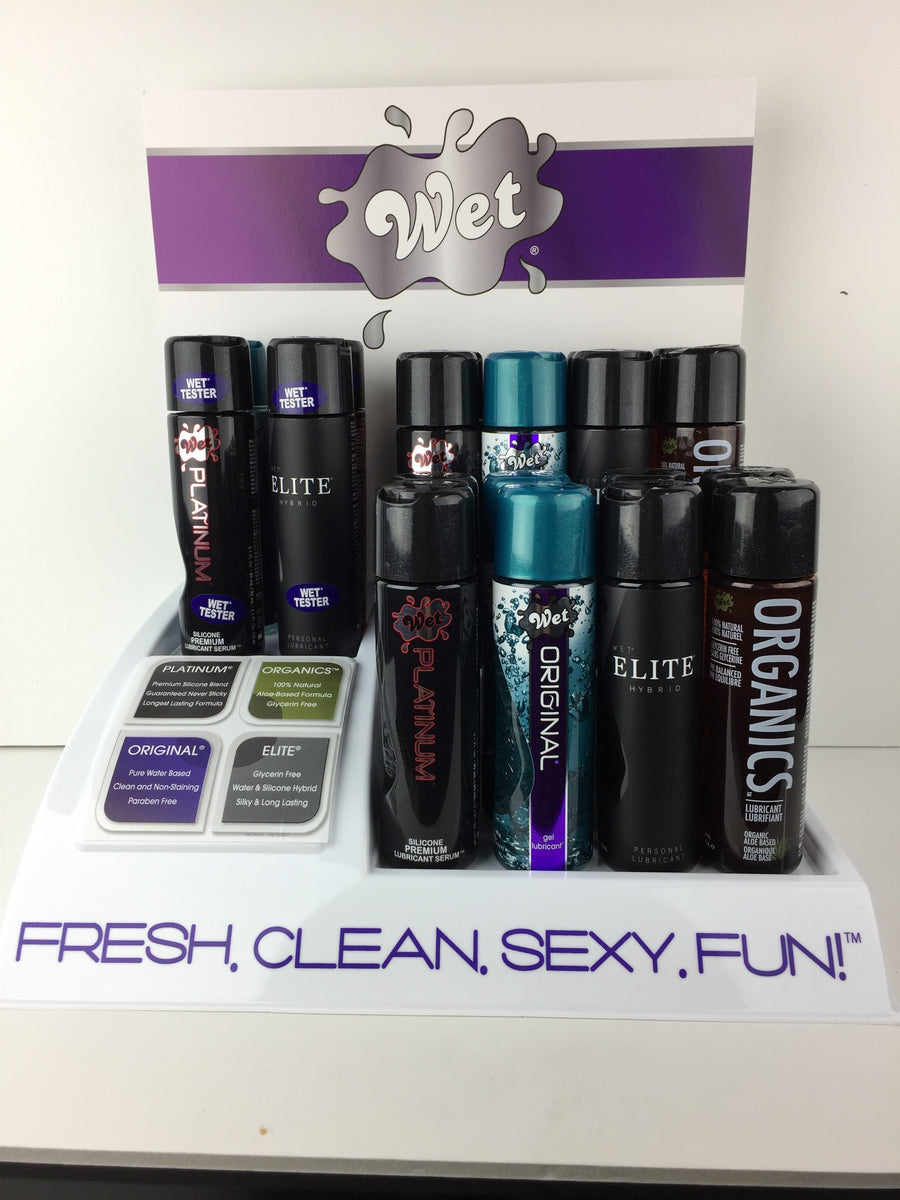 "Wet - ""Must Haves"" Lubricant Countertop Display Set 16pcs with 1 Tester Set (Multi Colour) Lube (Silicone Based) Singapore"